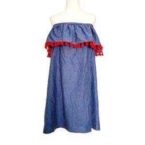 NWOT Cooper and Ella Denim Like Fringe Dress